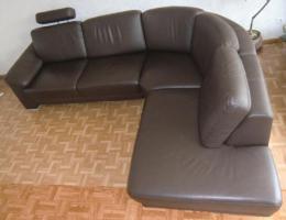 Foto 3 Sofa Leder Couch Wohnlandschaft Ecksofa