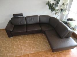 Foto 4 Sofa Leder Couch Wohnlandschaft Ecksofa
