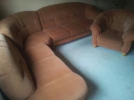 Foto 3 Sofa Rundecke mit passender Wohnwand und Tisch mit 6 Stühlen (auch einzeln abzugeben)