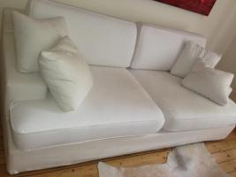 Sofa v. Ikea, weisser Bezug, abnehmbar
