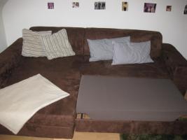 Foto 2 Sofa / Couch - Velourleder - braun - wie neu