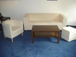 Sofa, Sessel, Hocker und Couchtisch (IKEA)
