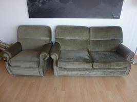 Sofa + Sessel, kostenlos