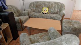 Foto 2 Sofagarnitur mit 2 Sessel und Fußhocker