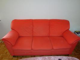 Foto 2 Sofagarnitur - lachsfarben - 3-Sitzer + 2-Sitzer - sehr gut erhalten