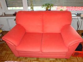 Foto 4 Sofagarnitur - lachsfarben - 3-Sitzer + 2-Sitzer - sehr gut erhalten