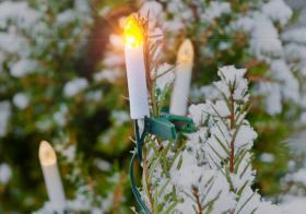 Solar-Lichterkette Weihnachten