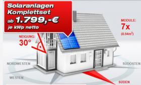 Solaranlagen Dach/Terrasse/Carport bis- 50% Rabatt