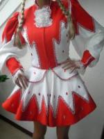Solo Funkenmariechen Tanzmariechen Kostüm Gardekostüm Petticoat u Strass Gr  34 - 36 - 38 oder 40