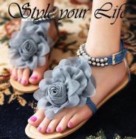 Foto 2 Sommer Sandalen mit Blume und Perlen