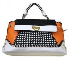 Sommertasche weiß, Damentasche Schultertasche Handtasche