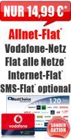 Sonder-Aktion Allnet Flat 14,99 Vodafone Aktion Flat
