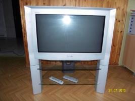 sony trinitron mit glastisch in z lpich 16 9 100 hertz technik. Black Bedroom Furniture Sets. Home Design Ideas