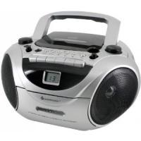Soundmaster SCD5650 MW/UKW-Radiorekorder mit CD-Spieler und externem Mikrofon