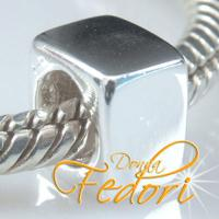 Spacer Cube 925 Sterling Silber