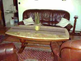 Foto 3 Spar Tipp `Echt-Leder Sitzgruppe` & einen Wohnrzimmertisch