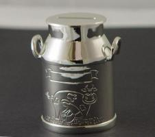 Spardose Milchkanne 8x7 cm, versilbert / SILBER plated