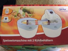 Speiseeismaschine inkl. zwei Kühlbehältern (neu)