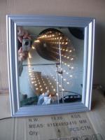 Spiegel mit Lämpchentunnel
