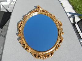 Foto 2 Spiegel mit goldfarbenem Rahmen
