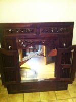 Foto 2 Spiegel, Holzrahmen handgearbeitet