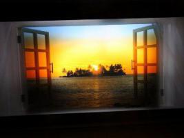 Spiegelleuchtbild mit Bewegungseffekt