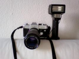 Spiegelreflex Canon FTb QL 75-200 mm Zoom Macro Blitz