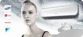 Split-Klimaanlagen von Samsung, Toshiba, Daikin und LG