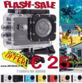 Sport Action Cam SJ4000 1080p nur € 25  viel Zubehör