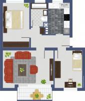 Foto 3 Stadthagen, 3-Zi. Wohnung Küche, Bad, Balkon, Keller zu vermieten 66,14 qm KM 295, - + NK