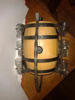Foto 4 Stahlgerüst, Kessel mit hängenden Schnapsgläser