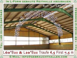 Foto 2 Stahlhalle gebraucht Reithalle arc1680sL [21x60x5/8m] + [21x20x5/8m] Gebrauchthalle abzubauen