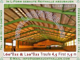 Foto 4 Stahlhalle gebraucht Reithalle arc1680sL [21x60x5/8m] + [21x20x5/8m] Gebrauchthalle abzubauen
