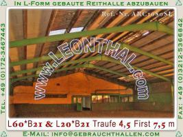 Foto 6 Stahlhalle gebraucht Reithalle arc1680sL [21x60x5/8m] + [21x20x5/8m] Gebrauchthalle abzubauen