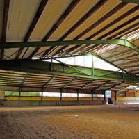 Foto 8 Stahlhalle gebraucht Reithalle arc1680sL [21x60x5/8m] + [21x20x5/8m] Gebrauchthalle abzubauen