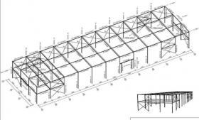 Foto 5 Stahlkonstruktion Stahlhalle Produktionshalle Gebrauchte Halle Flachdachhalle Gebrauchthalle