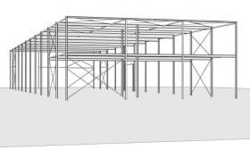 Foto 6 Stahlkonstruktion Stahlhalle Produktionshalle Gebrauchte Halle Flachdachhalle Gebrauchthalle