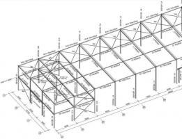 Foto 7 Stahlkonstruktion Stahlhalle Produktionshalle Gebrauchte Halle Flachdachhalle Gebrauchthalle