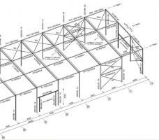 Foto 8 Stahlkonstruktion Stahlhalle Produktionshalle Gebrauchte Halle Flachdachhalle Gebrauchthalle