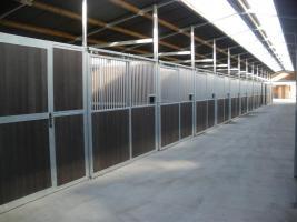Foto 3 Stallanlage geschlossen mit Innenboxen u. Heulager