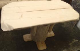 Foto 2 Stammtisch, Baumstammtisch, Holztisch massiv