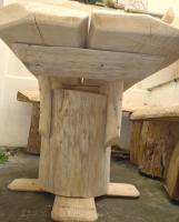 Foto 3 Stammtisch, Baumstammtisch, Holztisch massiv