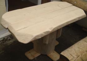 Foto 7 Stammtisch, Baumstammtisch, Holztisch massiv