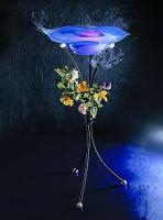 Standnebler Mystic Pond mit blauer Glasschale und Ständer