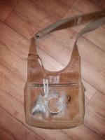 Steampunk Handtasche mit aufgenähtem Zahnrad