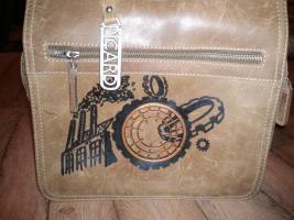Foto 2 Steampunk Handtasche mit aufgenähtem Zahnrad