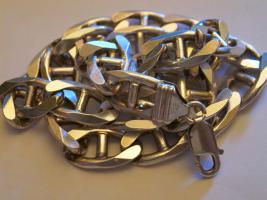 Stegpanzerkette 925 Silber 95gr schwer