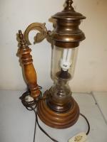 Stehlampe Massiv ALT mit Glas sehr guter Zustand