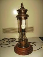 Foto 3 Stehlampe Massiv ALT mit Glas sehr guter Zustand