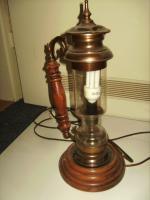Foto 6 Stehlampe Massiv ALT mit Glas sehr guter Zustand